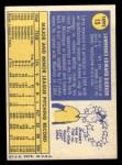 1970 Topps Poster Inserts #15  Larry Dierker  Back Thumbnail