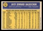 1970 Topps #284  Jack Baldschun  Back Thumbnail