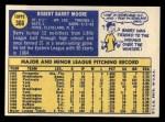 1970 Topps #366  Barry Moore  Back Thumbnail