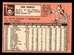 1969 Topps #144  Bob Hendley  Back Thumbnail