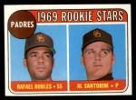 1969 Topps #592   -   Rafael Robles / Al Santorini Padres Rookies  Front Thumbnail