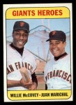 1969 Topps #572   -  Juan Marichal / Willie McCovey Giants Heroes   Front Thumbnail