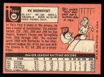 1969 Topps #368  Vic Roznovsky  Back Thumbnail