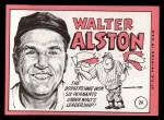 1969 Topps #24 *BRK* Walter Alston    Back Thumbnail