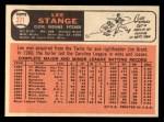 1966 Topps #371  Lee Stange  Back Thumbnail