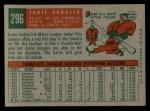 1959 Topps #296  Ernie Broglio  Back Thumbnail