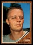 1962 Topps #532  Dick Stigman  Front Thumbnail