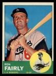 1963 Topps #105 *WHI* Ron Fairly  Front Thumbnail