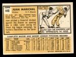 1963 Topps #440  Juan Marichal  Back Thumbnail
