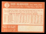 1964 Topps #122  Don McMahon  Back Thumbnail