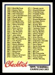 1978 Topps #289   Checklist 3 Front Thumbnail
