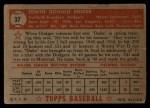 1952 Topps #37 RED Duke Snider  Back Thumbnail