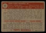 1952 Topps #105  John Pramesa  Back Thumbnail