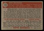 1952 Topps #253  John Berardino  Back Thumbnail