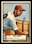 1952 Topps #74 RED Andy Hansen  Front Thumbnail