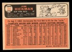 1966 Topps #402  Jim Hickman  Back Thumbnail