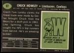 1969 Topps #97  Chuck Howley  Back Thumbnail