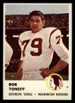 1961 Fleer #116  Bob Toneff  Front Thumbnail