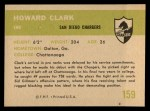 1961 Fleer #159  Howard Clark  Back Thumbnail