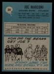 1964 Philadelphia #20  Joe Marconi  Back Thumbnail
