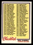 1978 Topps #184   Checklist 2 Front Thumbnail