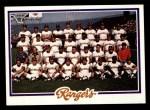 1978 Topps #659   Rangers Team Checklist Front Thumbnail