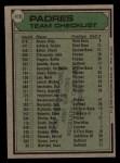 1979 Topps #479   -  Roger Craig  Padres Team Checklist Back Thumbnail