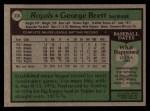 1979 Topps #330  George Brett  Back Thumbnail
