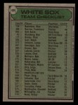1979 Topps #404   -  Don Kessinger White Sox Team Checklist Back Thumbnail