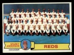1979 Topps #259   -  Sparky Anderson  Reds Team Checklist Front Thumbnail