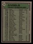 1979 Topps #424   -  Jim Fregosi  Angels Team Checklist Back Thumbnail