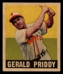 1949 Leaf #111  Jerry Priddy  Front Thumbnail