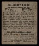 1949 Leaf #83  Bobby Doerr   Back Thumbnail