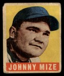 1949 Leaf #46  Johnny Mize  Front Thumbnail
