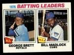 1977 Topps #1   -  George Brett / Bill Madlock Batting Leaders   Front Thumbnail