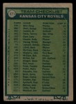 1977 Topps #371   -  Whitey Herzog Royals Team Checklist Back Thumbnail