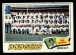 1977 Topps #504   -  Tommy Lasorda Dodgers Team Checklist Front Thumbnail