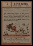 1962 Topps #18  Stan Jones  Back Thumbnail