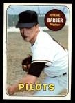 1969 Topps #233 MUD Steve Barber  Front Thumbnail