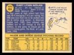 1970 Topps #484  Gary Nolan  Back Thumbnail