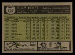 1961 Topps #256  Billy Hoeft  Back Thumbnail