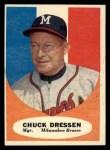 1961 Topps #137  Chuck Dressen  Front Thumbnail