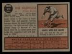1962 Topps #339  Jose Valdivielso  Back Thumbnail