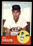 1963 Topps #119  Bob Lillis  Front Thumbnail