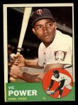 1963 Topps #40 YEL Vic Power  Front Thumbnail
