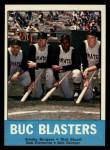 1963 Topps #18   -  Smoky Burgess / Dick Stuart / Roberto Clemente / Bob Skinner Buc Blasters   Front Thumbnail