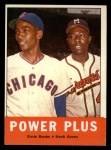 1963 Topps #242   -  Ernie Banks / Hank Aaron Power Plus  Front Thumbnail