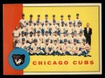 1963 Topps #222   -    Cubs Team Front Thumbnail