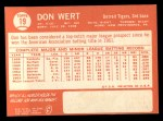 1964 Topps #19  Don Wert  Back Thumbnail
