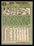 1967 Topps #56  Jose Tartabull  Back Thumbnail